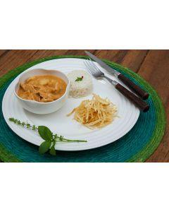 Strogonoff de frango, batata palha, arroz (400g)