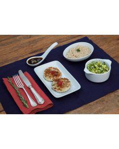 Hamburguer de frango, abobrinha, arroz integral (328 Kcal.) - FIT