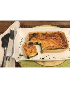 Quiche de espinafre com queijo branco (500g)